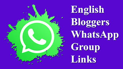 English Bloggers WhatsApp Group Links