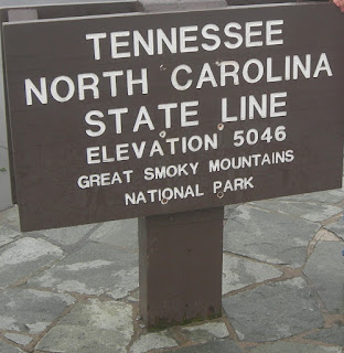 Tennessee North Carolina State Line in the Smokies
