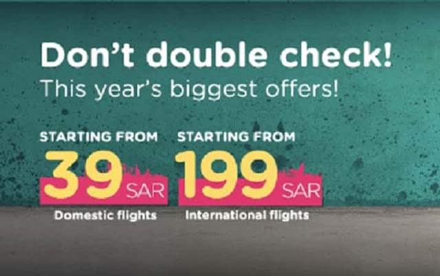 Flynas launched this Year's biggest Offer on flights from 39 SR & 199 SR