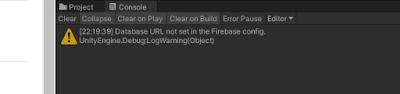 Unity Firebase Data URL not set in the Firebase config
