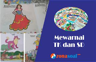 Buku Keterampilan Mewarnai Gambar untuk Anak TK dan SD