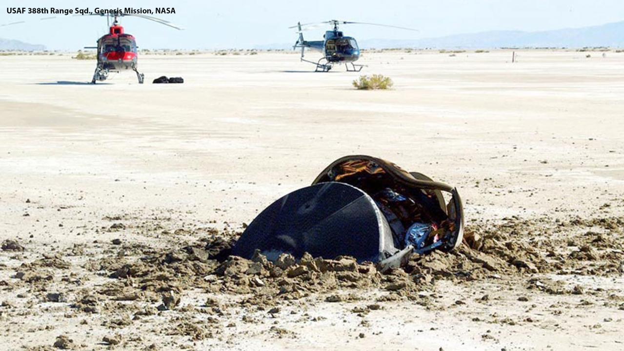 NASA Shares Incredible Photos Of Crashed 'Flying Saucer'