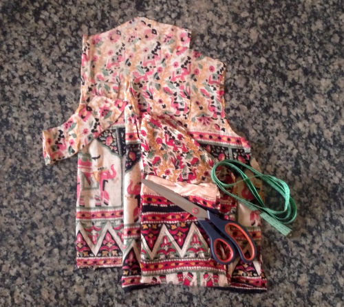 Costurando bata indiana