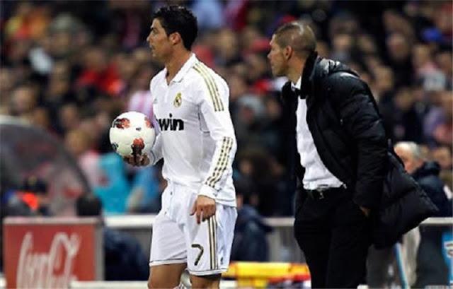 سيميوني, كريستيانو رونالدو, شجار, صراع, اهداف, اتليتيكو مدريد, ريال مدريد