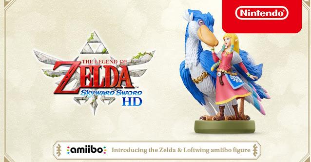 The Legend of Zelda: Skyward Sword HD (Switch) receberá amiibo de Zelda e Loftwing