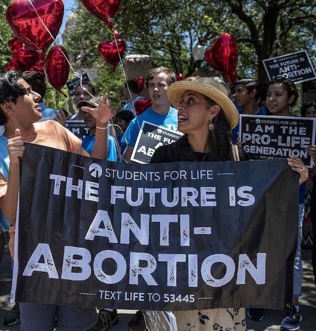 'O futuro é contra o aborto': estudantes texanos apoiam o banimento do aborto