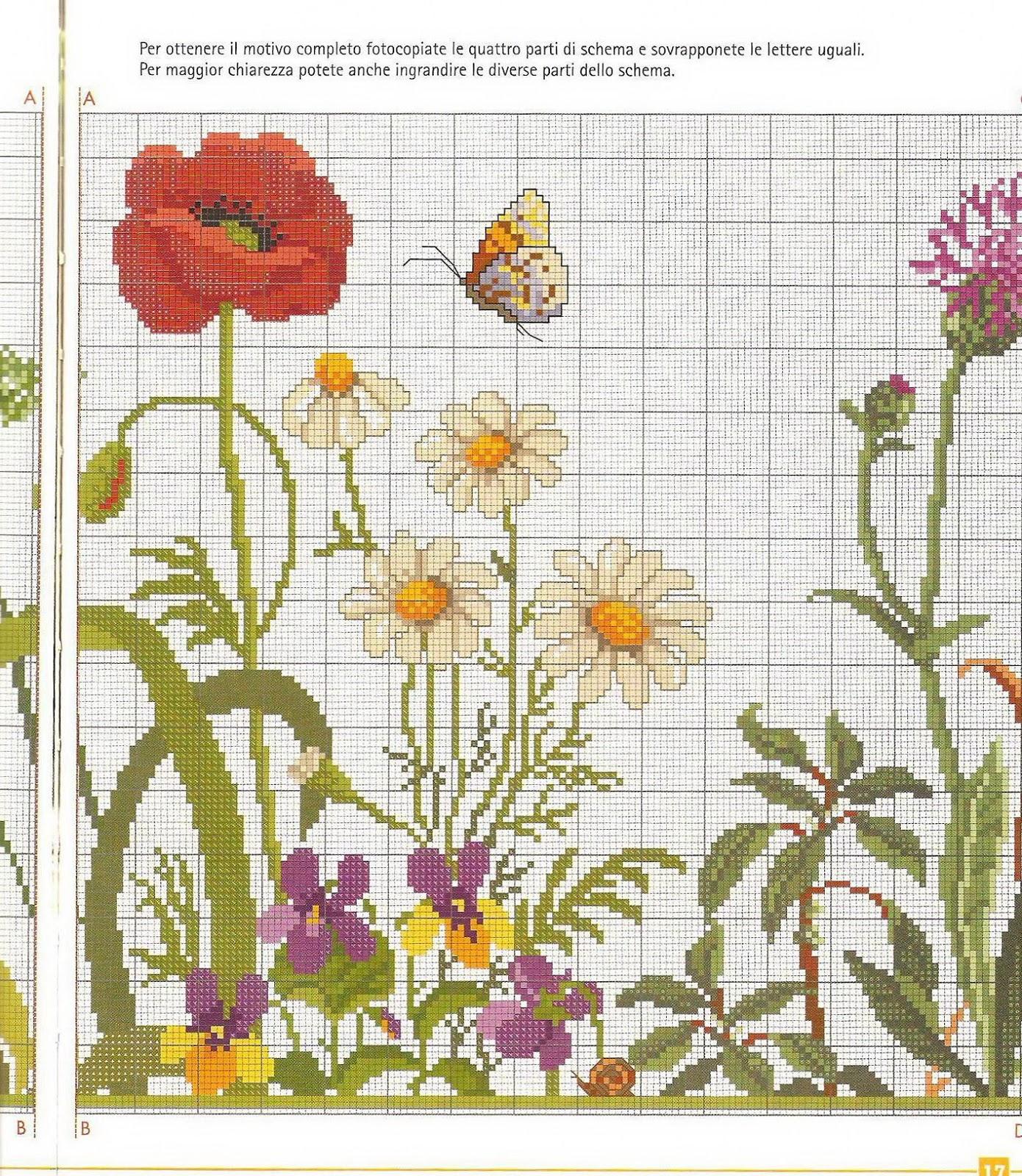Grande raccolta di Schemi e grafici per Punto croce free: Tende di lino ricam...
