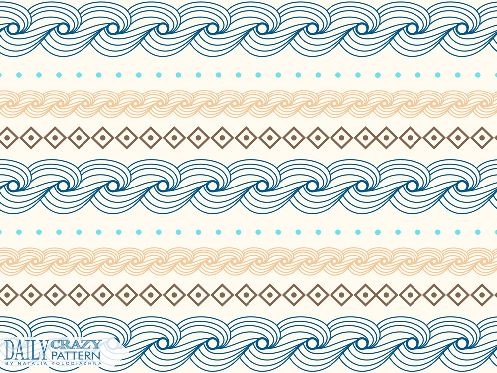 "Impressive pattern with waves for ""Daily Crazy Pattern"" project 