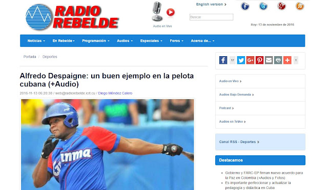 Tema polémico que le traemos para saber sus opiniones, toda vez que Alfredo Despaigne es 'agente libre' en el beisbol japonés y debería enfocarse en su forma física y ver con quien estaría firmando para la venidera campaña.