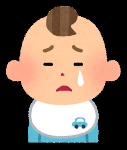 赤ちゃんの表情のイラスト(男・泣いた顔)