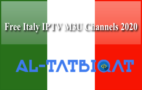 Free Italy IPTV M3U Channels 2020