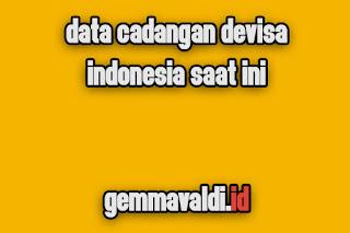 Data Cadangan Devisa Indonesia Saat Ini