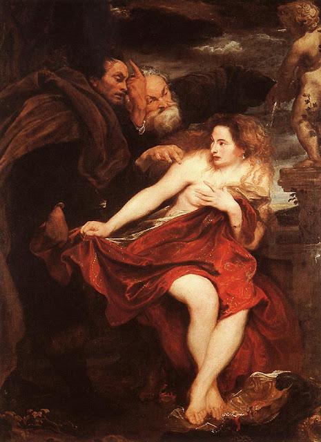 Van Dyck, El baño de Susana