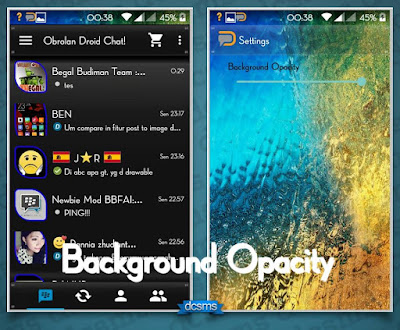 Droid Chat! v5.7.28 Transparent Theme Based BBM v2.9.0.49