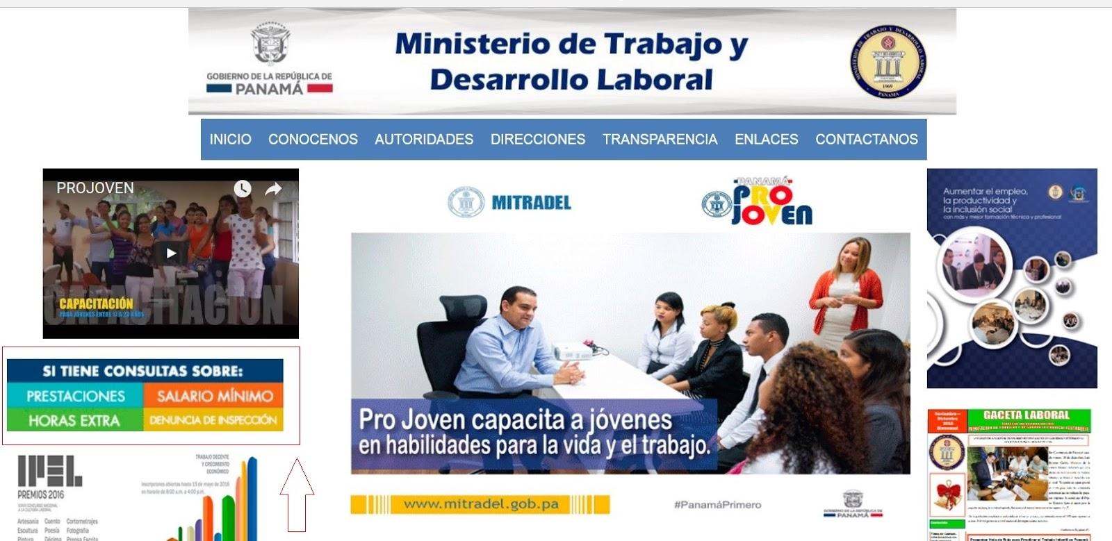 Denuncias ministerio de trabajo rep blica de panam for La pagina del ministerio