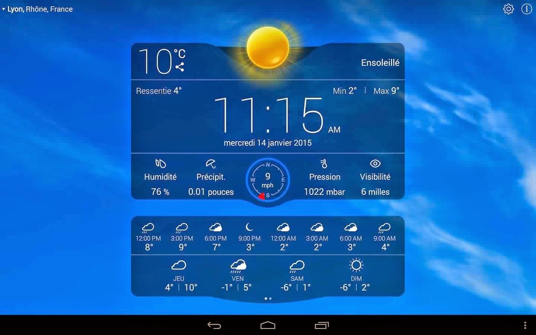 application meteo pour android gratuit