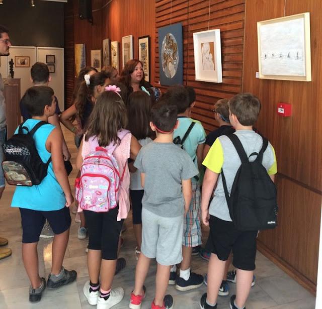 Ήγουμενίτσα: Τα παιδιά του ΚΔΑΠ Ηγ/τσας στην έκθεση Ηπειρωτών εικαστικών στο Αρχαιολογικό Μουσείο (ΦΩΤΟ)