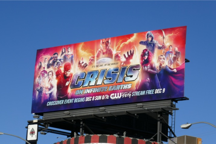 Arrowverse Crisis on Infinite Earths 2019 billboard