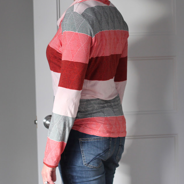 Angela Wolf's Ruched T made from Emma One Sock knit - back