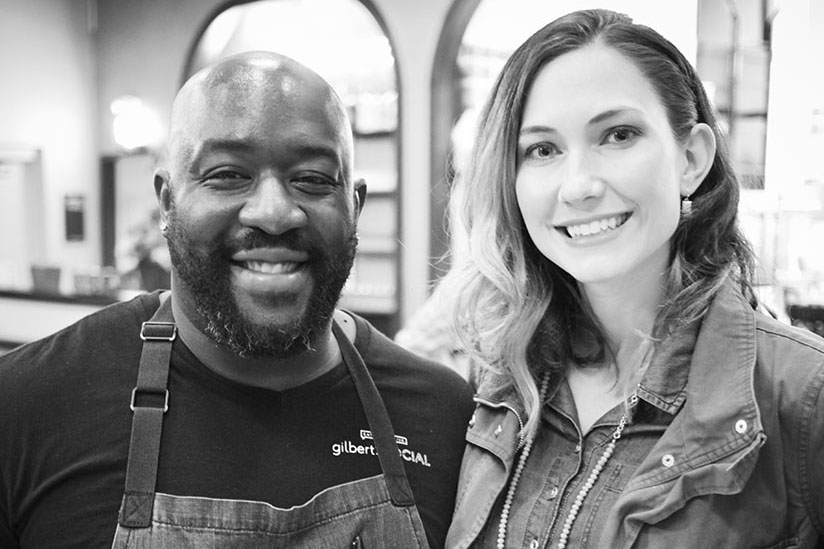 Celebrity Chef Kenny Gilbert and Amy West