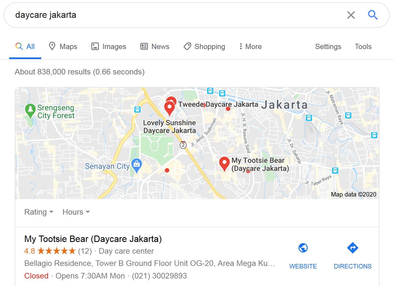 Hasil Google Maps Optimization dari Jasa SEO Arfadia
