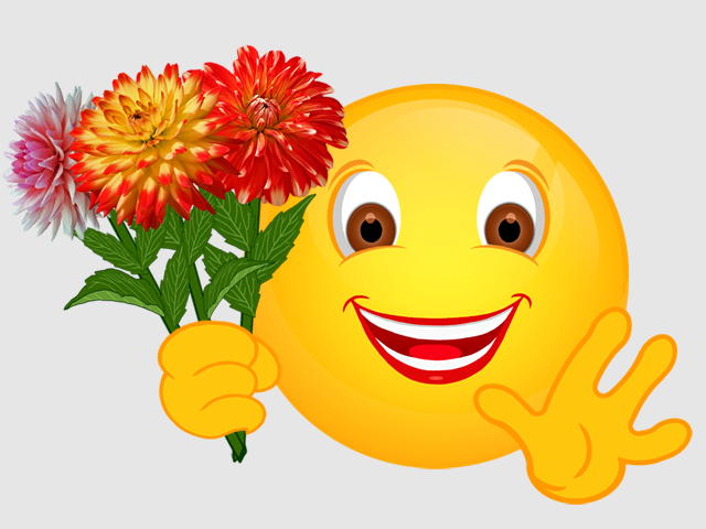 картинки цветы смайлы обои