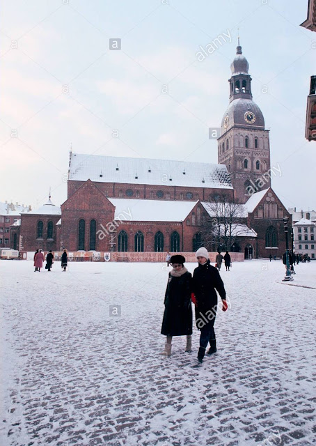1988 год. Рига. Домская площадь и Домский собор