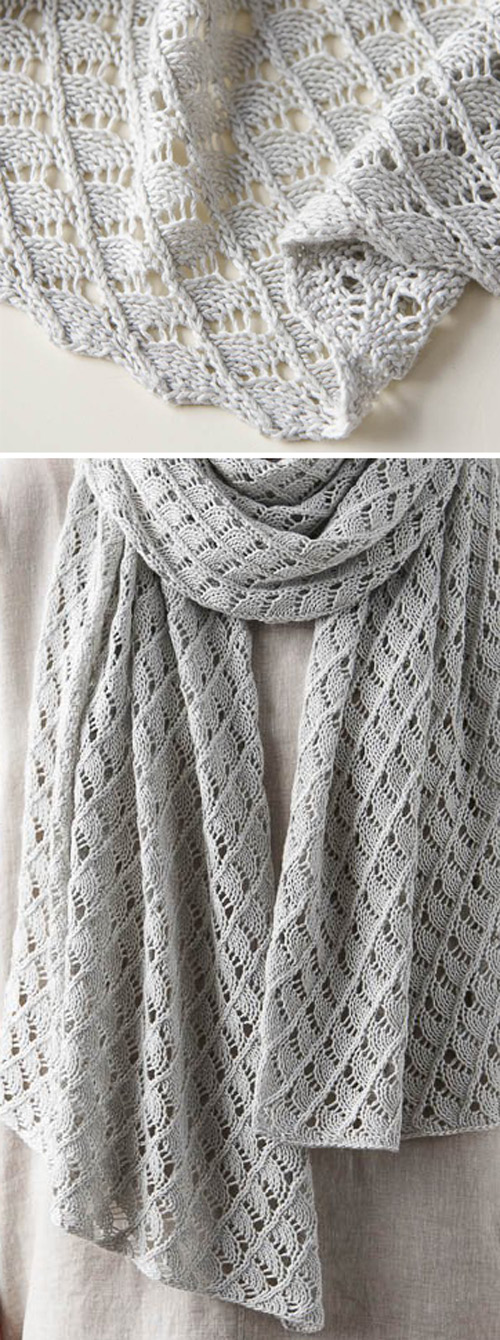 Little Moons Lace Wrap - Free Knitting Pattern
