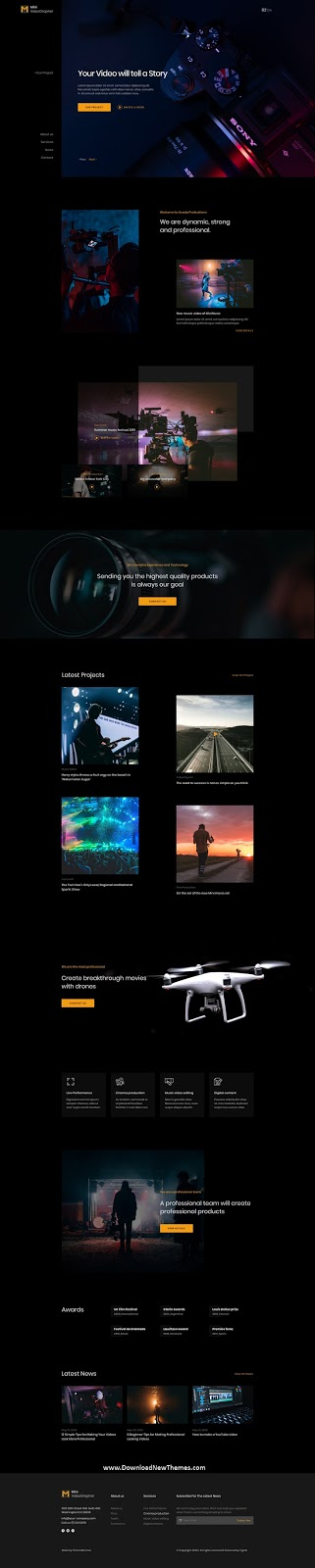 Download Photography & Videography Website Template