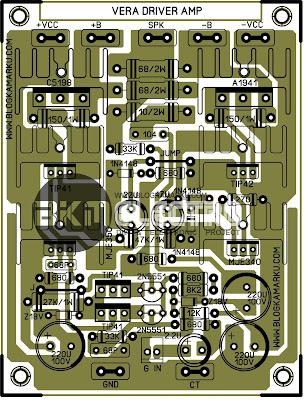 PCB Layout Yang Banyak Di Cari Driver Vera Amplifire