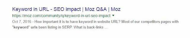 Add the Keyword in URL
