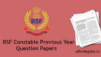 BSF Constable Previous Year Question Papers
