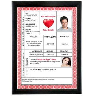 Sevgiliye özel sertifikalar