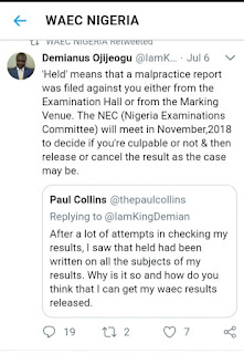 When Is WITHHELD WAEC Result BE Be Released?