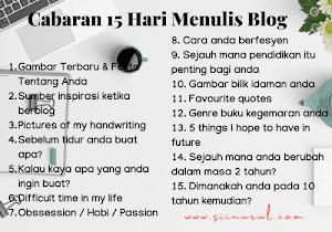 Cabaran 15 Hari Menulis Blog