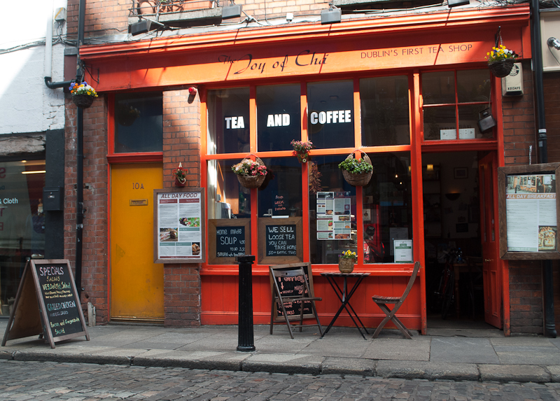 Joy of Cha Café along temple bar in dublin ireland