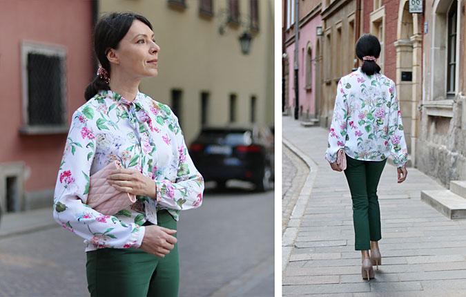 koszula w kwiaty stylizacje 2018