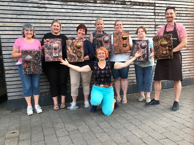 Steampunk Up-cycled workshop with Stanislava Boudova (StanislavaArts.eu) - Our works of Art