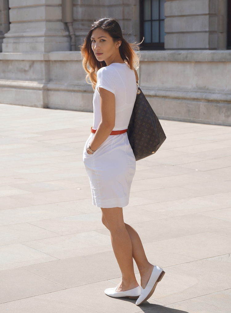 Euriental - white BCBG Maxazria dress, summer style, fashion blogger, street style in London