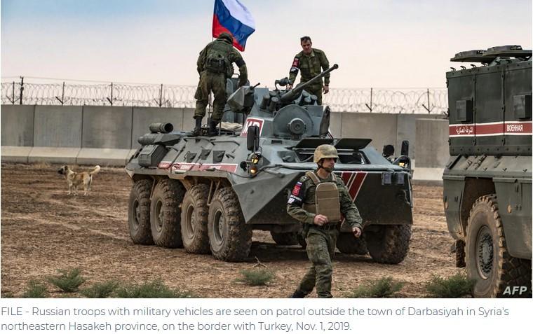 pasukan rusia ditolak penduduk timur laut suriah