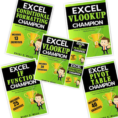 [Free Ebook]TOP 4 EBOOK Excel Champion 2020 ( Conditional formatiting , Vlookup , If , Pivot Table )
