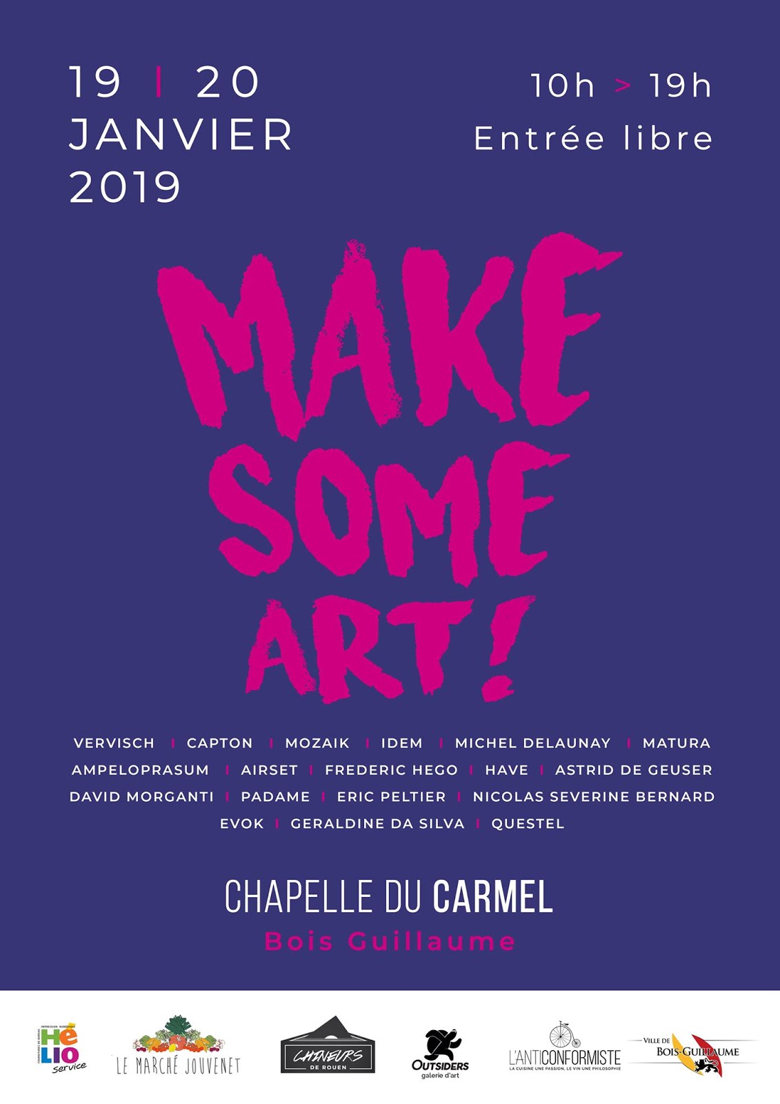 "BOIS-GUILLAUME (AGGLO DE ROUEN) : CAPTON INVITÉ D'HONNEUR DE ""MAKE SOME ART"""