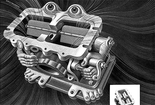 a Boris Artzybasheff illustration of a carburetor
