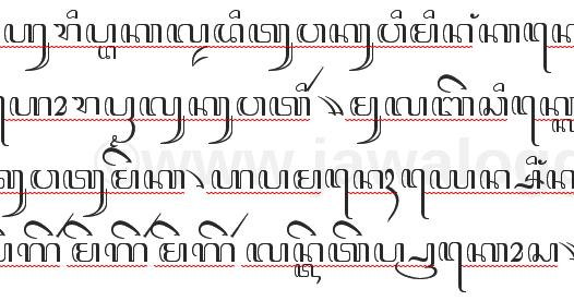 Contoh Paragraf Aksara Jawa Dan Artinya Bag 3