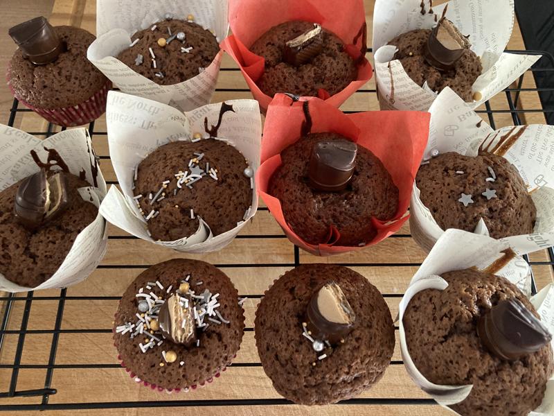 Receta muffins chocolate niños