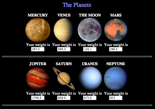 Mass and Weight On Planets (page 2) - Pics about space