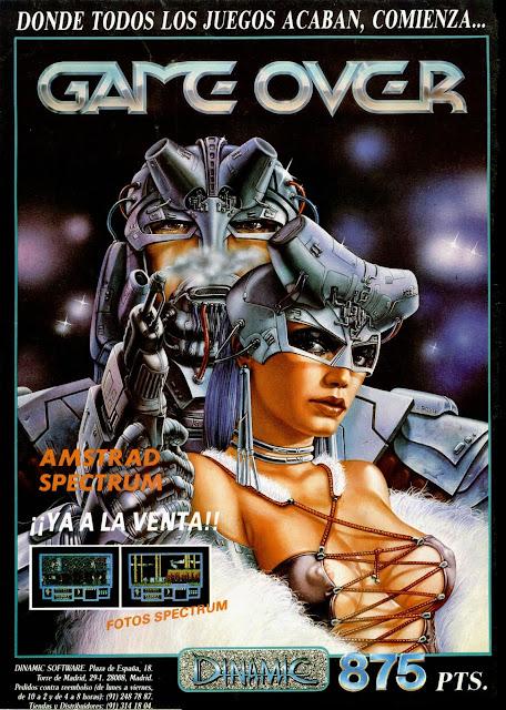 Publicidad videojuego Game Over con la portada original