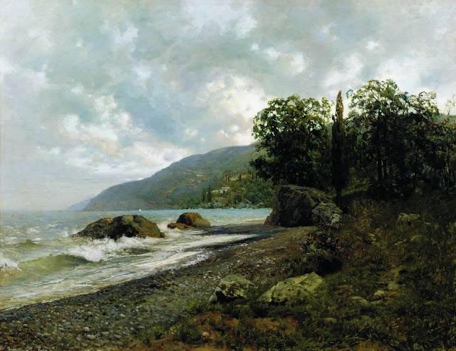 Исаак Ильич Левитан - Крымский пейзаж. 1887