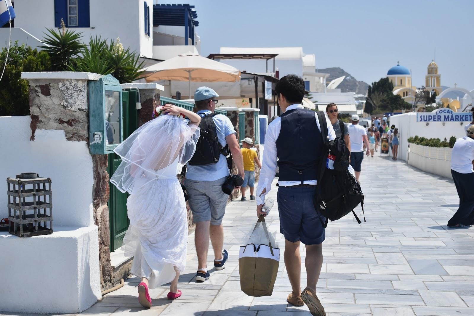casamento em oia, santorini