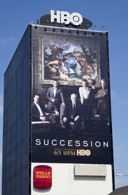 Succession series premiere billboard